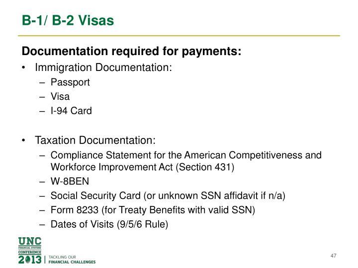 B-1/ B-2 Visas