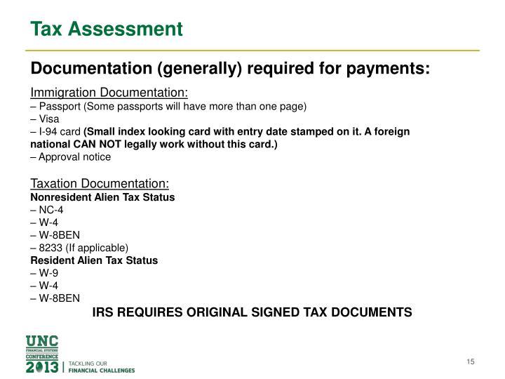 Tax Assessment