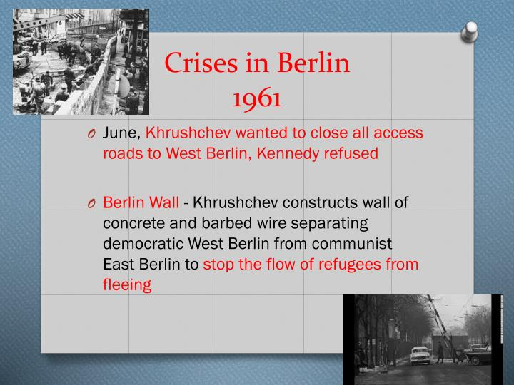 Crises in Berlin