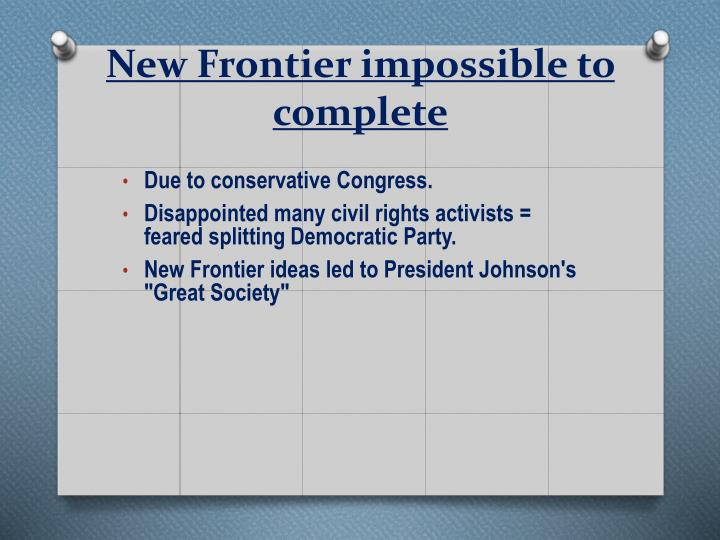 New Frontier impossible to complete