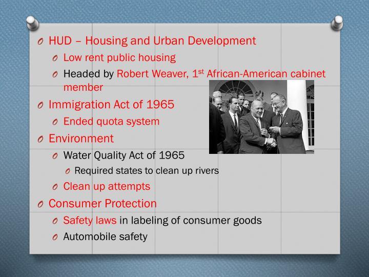 HUD – Housing and Urban Development