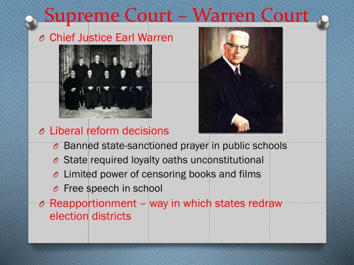 Supreme Court – Warren Court