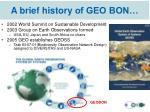 a brief history of geo bon