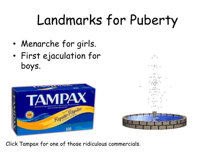 Landmarks for Puberty