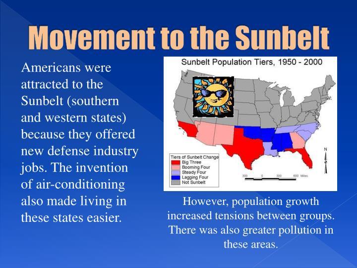 Movement to the Sunbelt