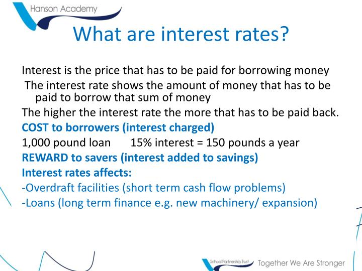 What are interest rates?