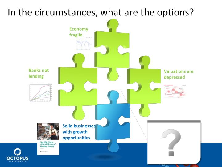In the circumstances, what are the options?