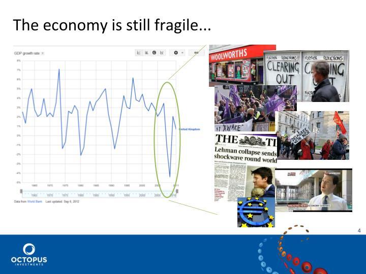 The economy is still fragile...