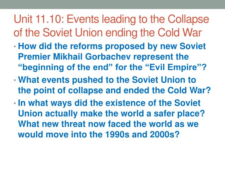the events that led to the cold war