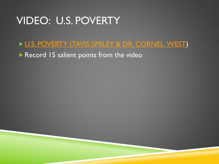 VIDEO:  U.S. POVERTY