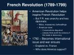 french revolution 1789 1799