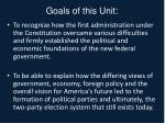 goals of this unit1