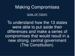 making compromises