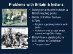 problems with britain indians