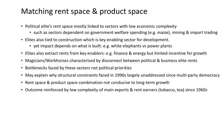 Matching rent space & product space