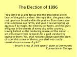 the election of 18962