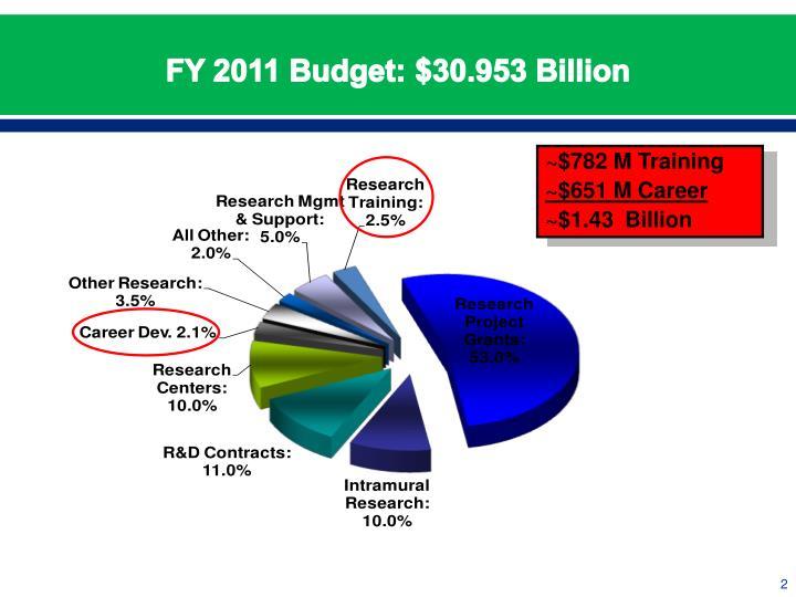 Fy 2011 budget 30 953 billion