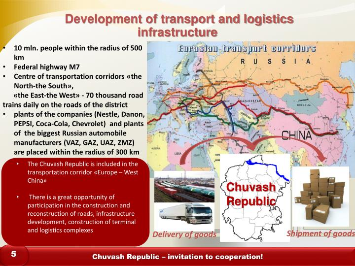 Development of transport and logistics infrastructure