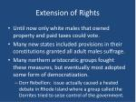 extension of rights