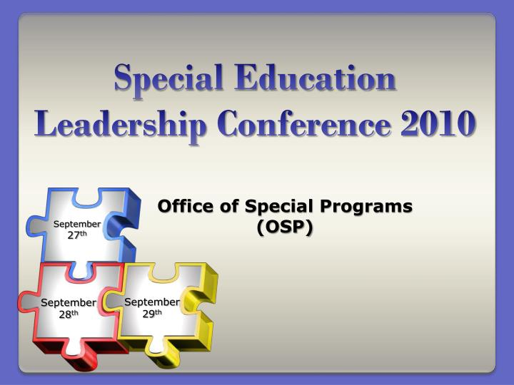 special education leadership conference 2010 n.