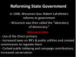 reforming state government