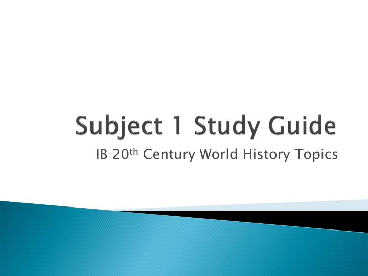 subject 1 study guide n.