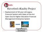 haverford ekuality project