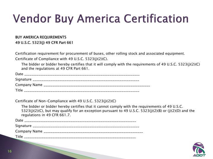 america fta requirements procurement bus ppt powerpoint presentation certification