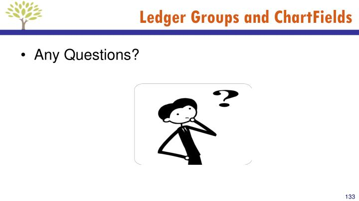 Ledger Groups and ChartFields