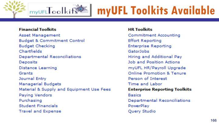 myUFL Toolkits Available