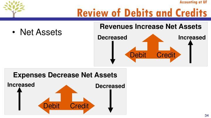 Revenues Increase Net Assets