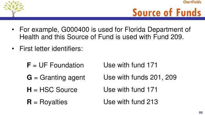 Use with fund 171