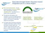 gesundes kinzigtal gmbh population based integrated care for a whole region