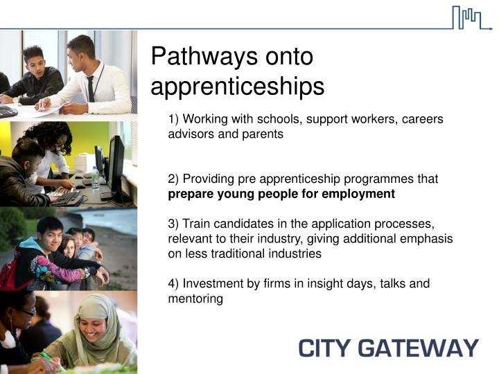 Pathways onto apprenticeships