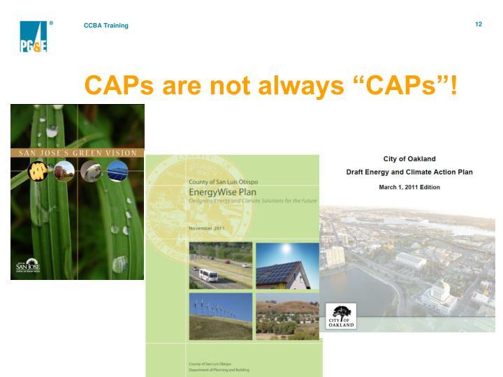 """CAPs are not always """"CAPs""""!"""