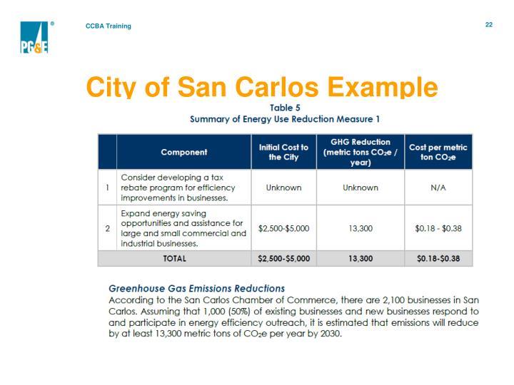 City of San Carlos Example