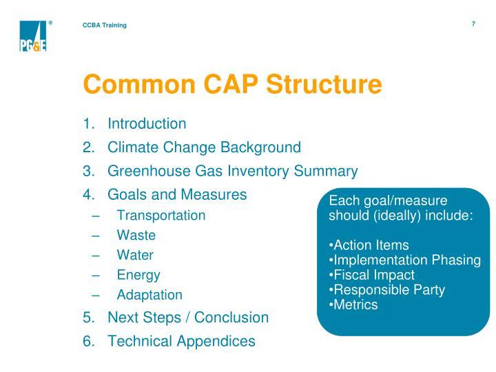 Common CAP Structure