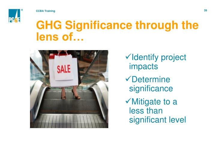 GHG Significance through the lens of…