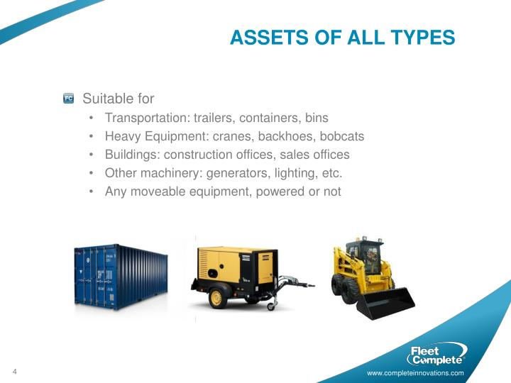 ASSETS OF ALL TYPES