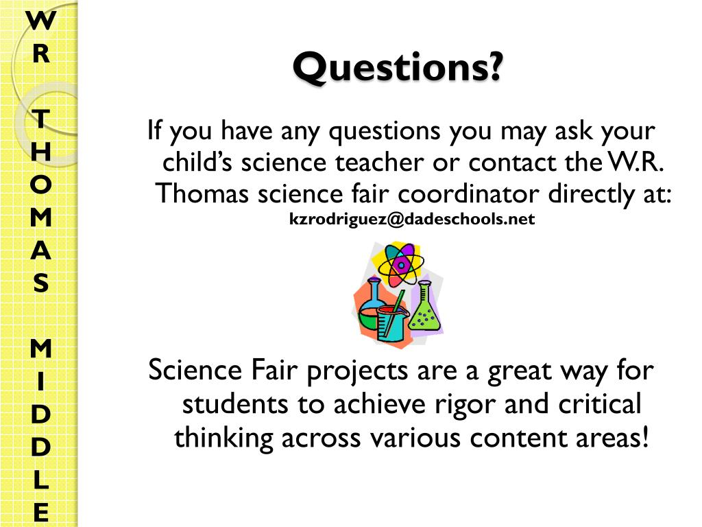 PPT - Parent Guide to the Science Fair PowerPoint