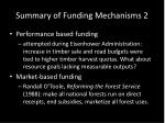 summary of funding mechanisms 2