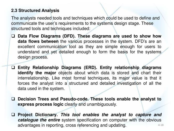 2.3 Structured Analysis
