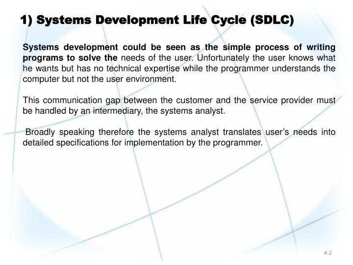 1) Systems Development Life Cycle (SDLC)
