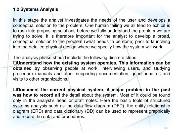 1.2 Systems Analysis