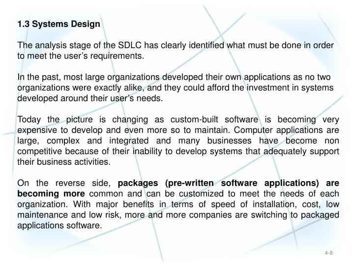 1.3 Systems Design