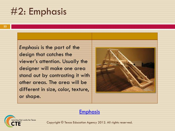 #2: Emphasis