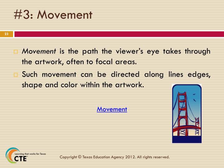 #3: Movement
