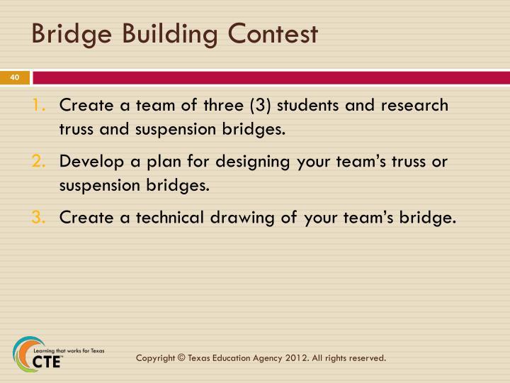Bridge Building Contest
