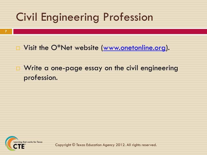 Civil Engineering Profession