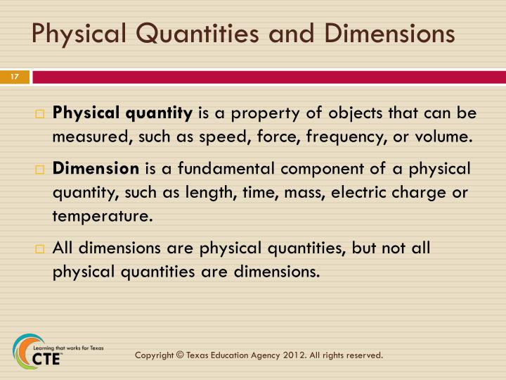 Physical Quantities and Dimensions